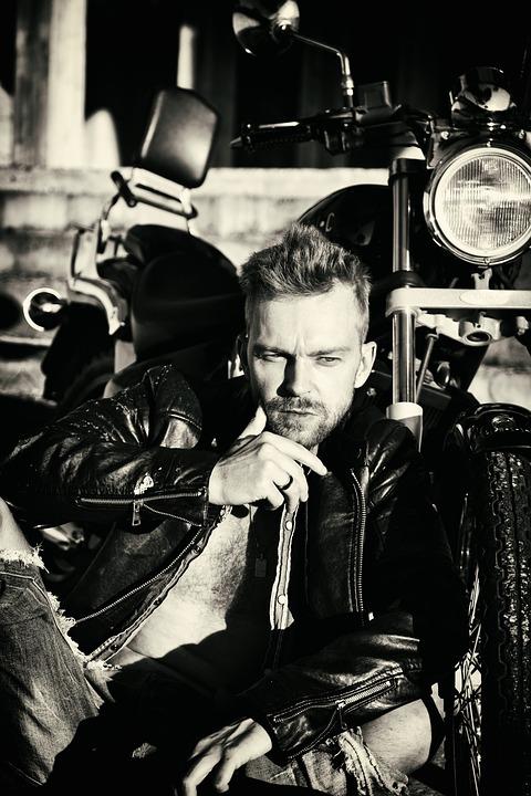 Man, Model, Motorcycle, Motorbike, Vehicle, Bike