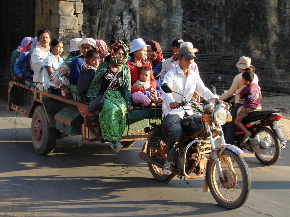 Transport, Cambodia, Moped, Motorcycle
