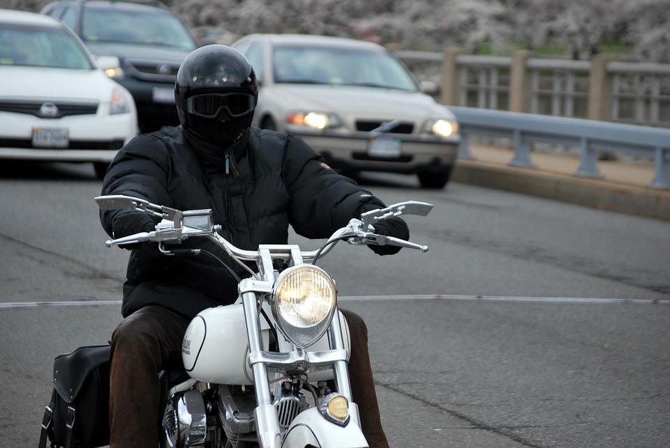 Motorcycle, Rider, Bike, Helmet, Traffic, Transport