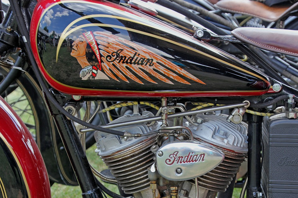 Motorcycle, Motor, Indian, Oldtimer, Vehicle, Machine