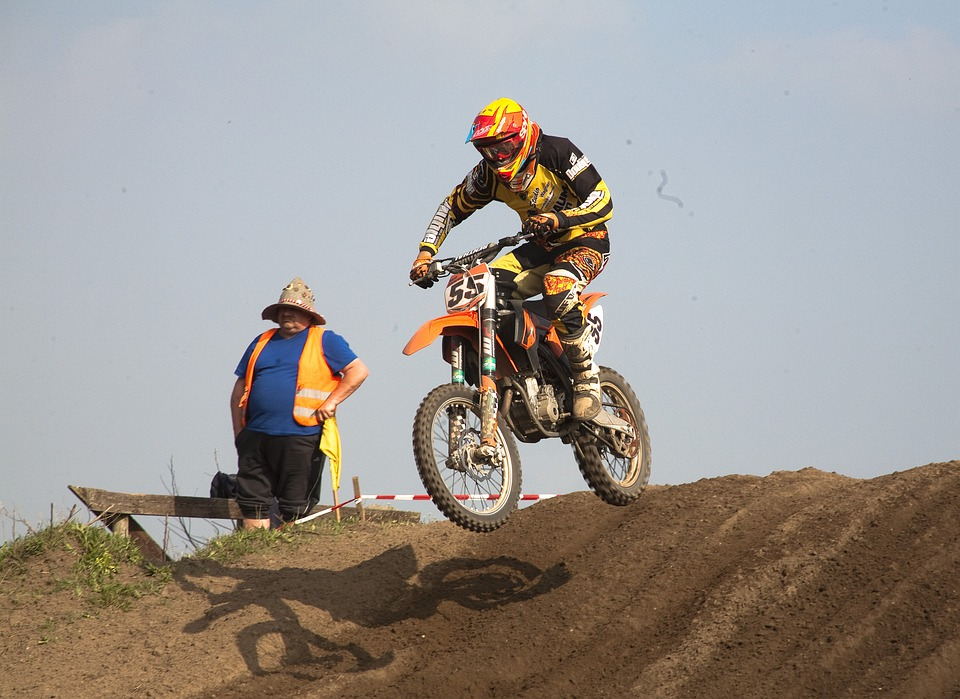 Motocross, Motorcycle, Sand, Jump, Motorsport