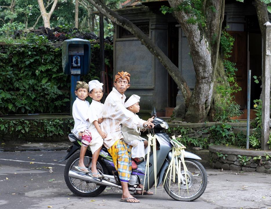 Bali, Temple Festival, Motorcycle