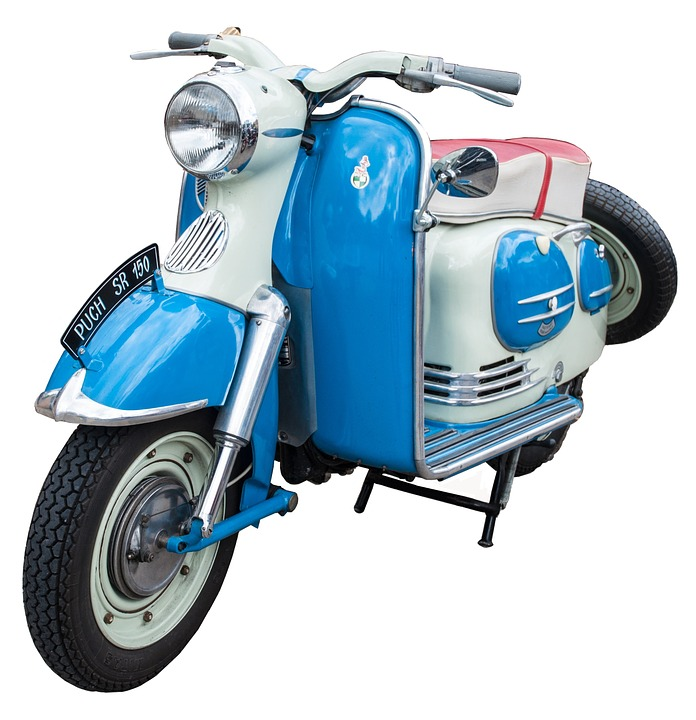 Motor Scooter, Puch, Vehicle, Motorcycle, Oldtimer