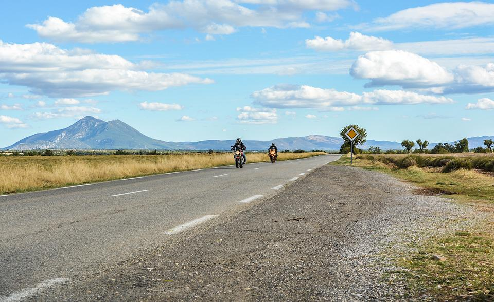 Motorcycle, Motorcyclist, France, Provence, Nature