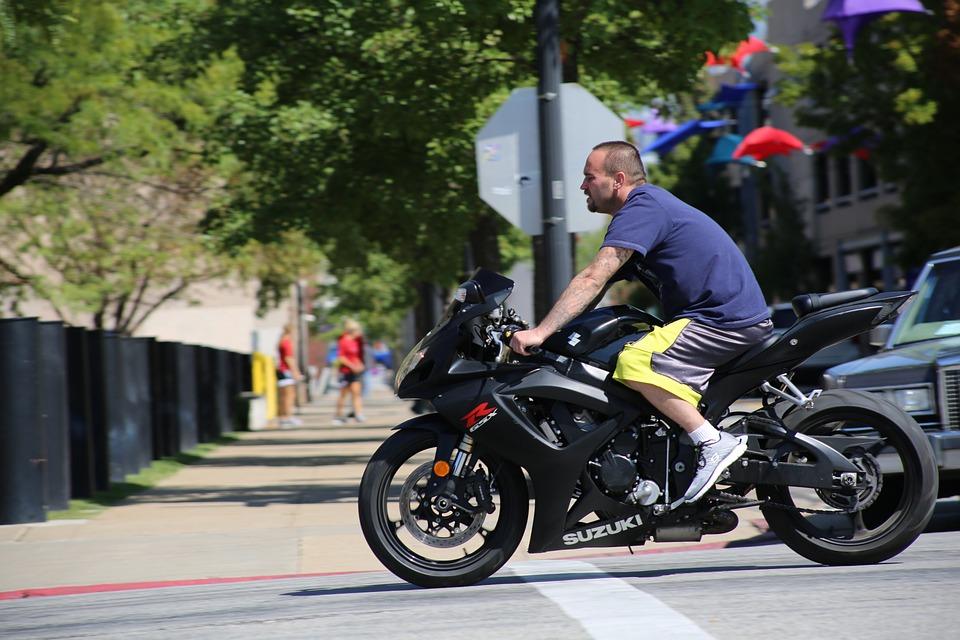 Motorcyclist, Motorcycle, Man, Biker, Riding Bike, Bike