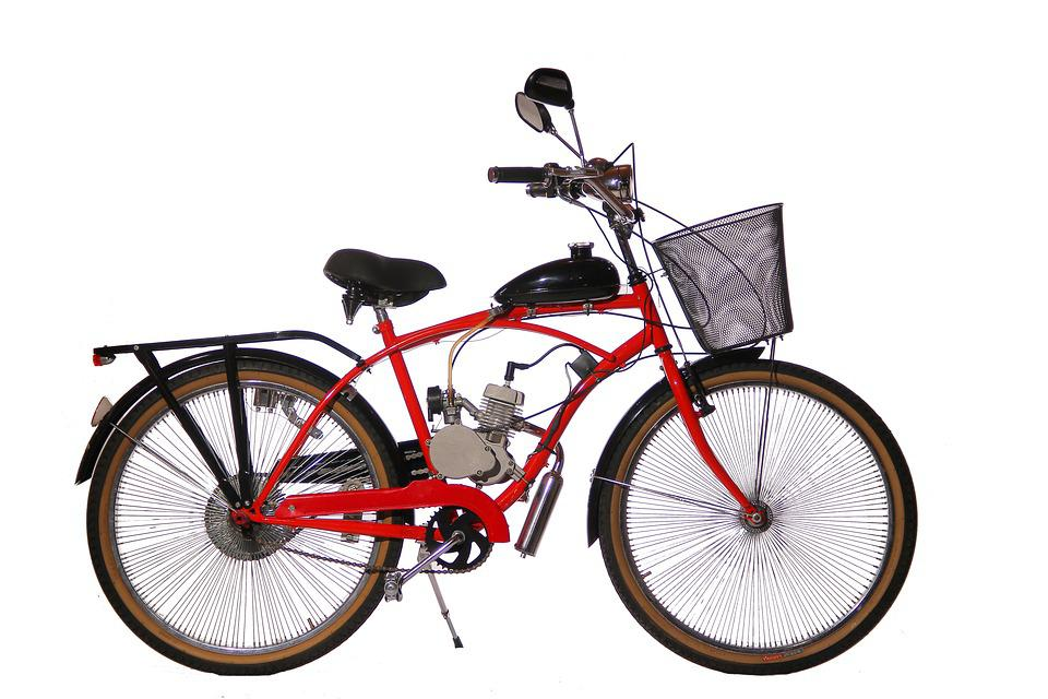 Bicycle, Red, Motorized