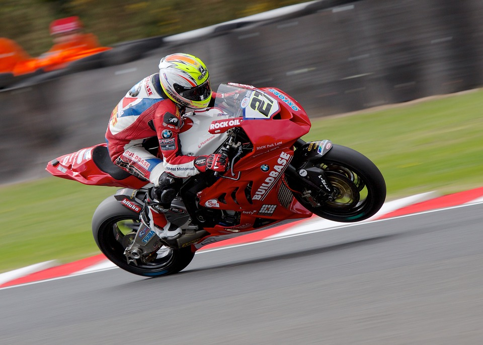 Superbike, Motorsport, Fast, Speed, Red, Track, Race