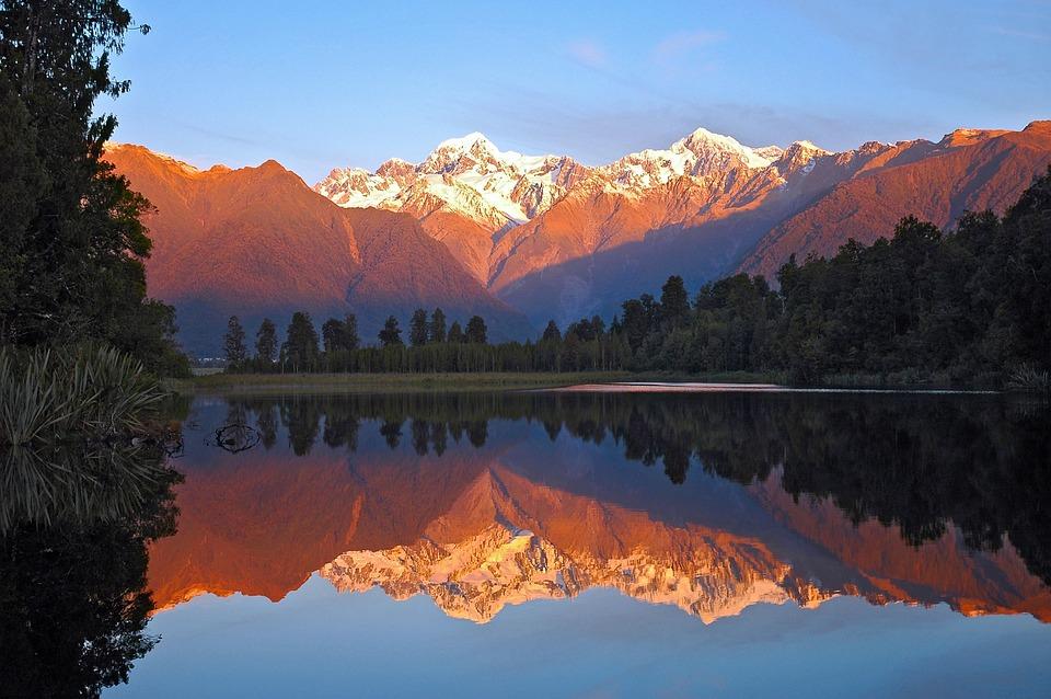 New Zealand, Lake, Matheson, Mountains, Mount Cook