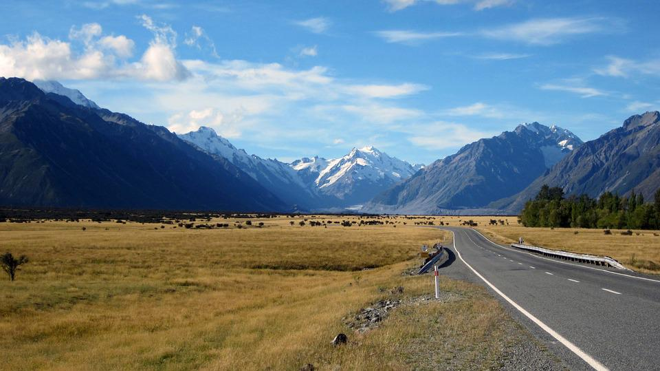 Mount Cook, Mountains, Southern, Glacier, Peaceful