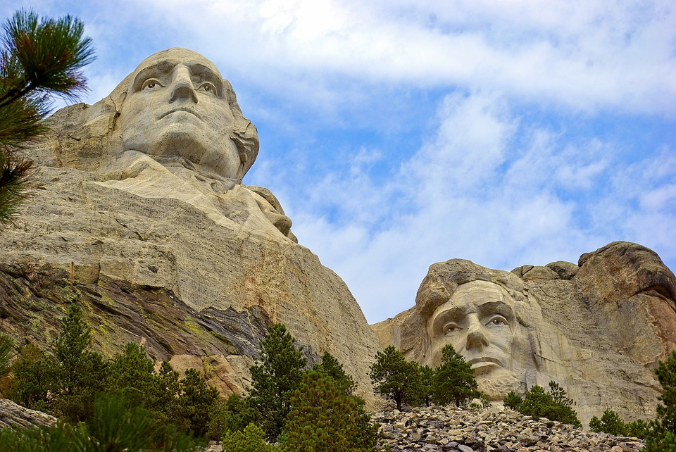 Iconic Giant Sculptures, Mount, Mt, Rushmore, Lincoln