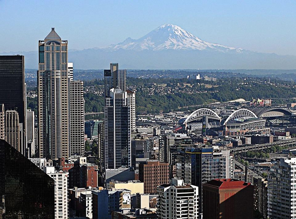 Seattle, Mount Rainier, Washington State, Scenic, City