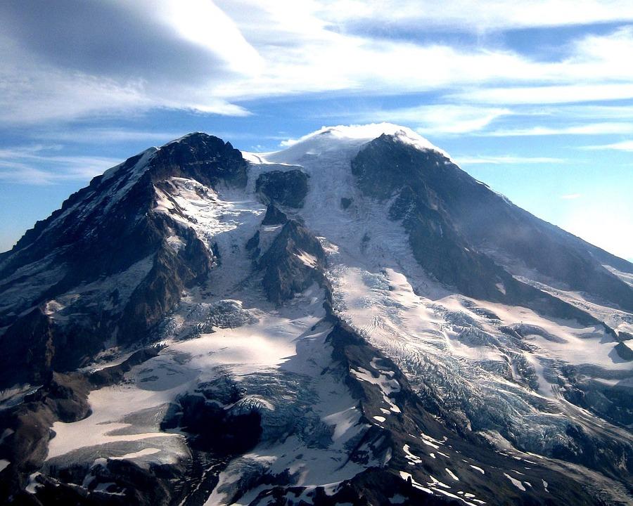 Mount Rainier, Mountain, Volcano, Stratovolcano