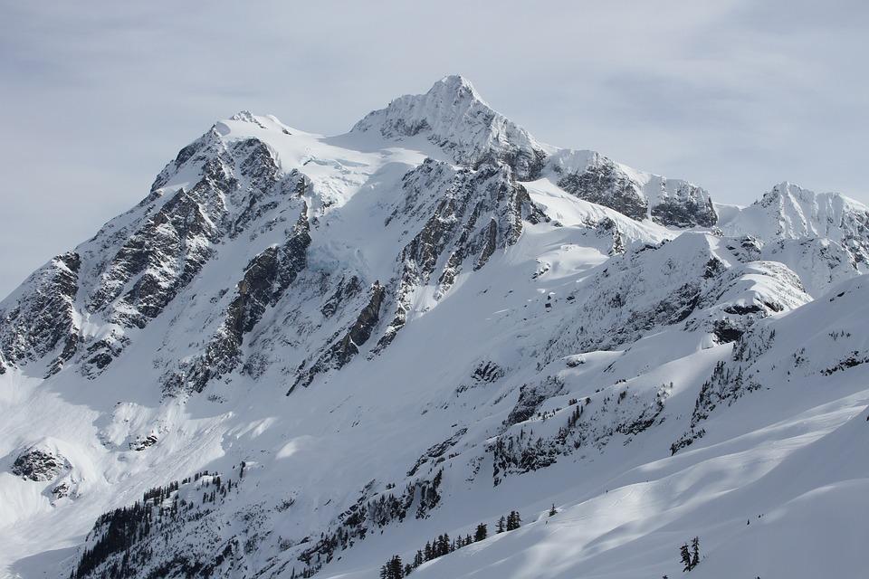 Mount Shuksan, Shuksan, Mountain, Winter, Snow