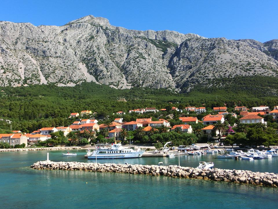 Dalmatia, Adriatic Sea, Mountain, Fishing Village