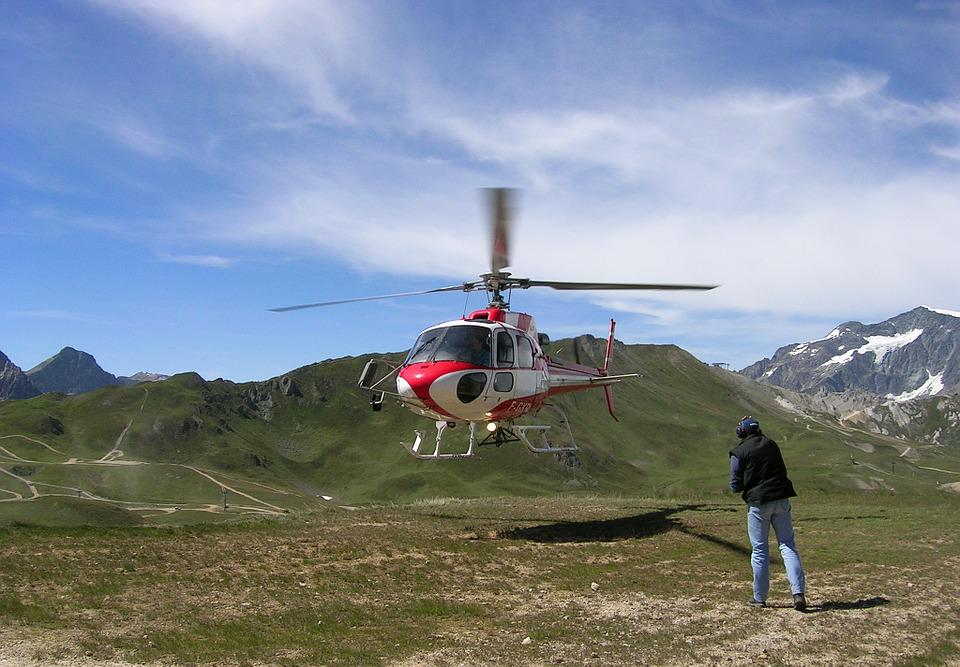 Alps, Val D ' Isère, Helicopter, Mountain
