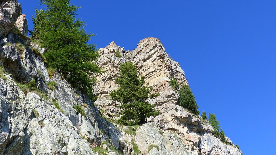 Landscape, Mountain, Nature, Alps, Rock, Trees, Summer