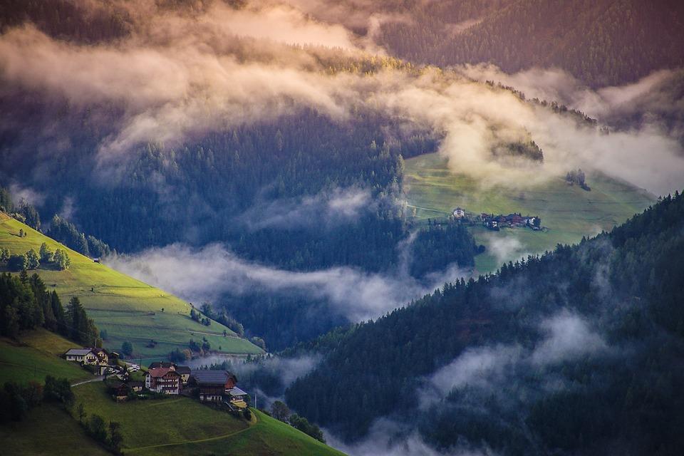 Viles, Ladinies, Fog, Dolomites, Mountain, Italy, Alps