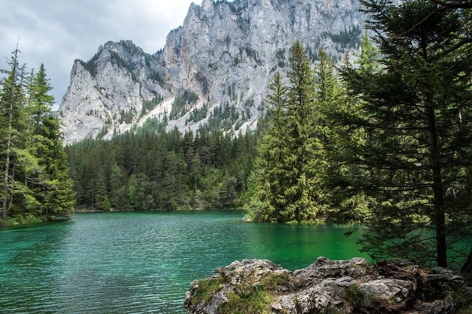 Green Lake, Styria, Lake, Mountain, Forest, Blue, Green