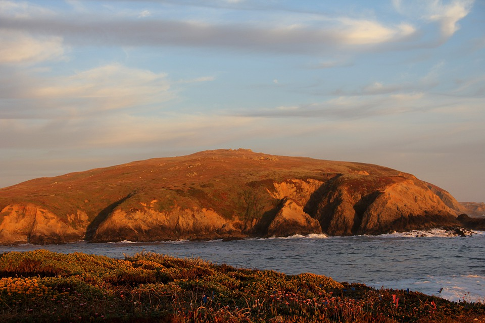 Bodega Bay, California, Horseshoe Cove, Ocean, Mountain
