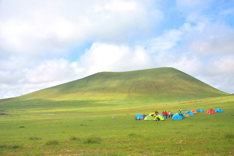 Prairie, Mountain, Camp Site, Camping, Camping Tents