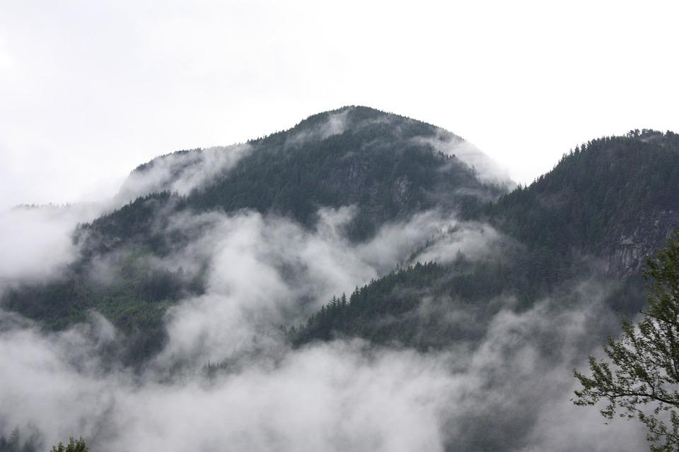 Mountain, Canada, Fog