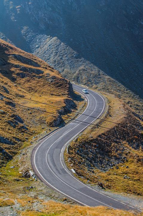 Serpentine, Alps, Mountain, Car, Road, Landscape, View