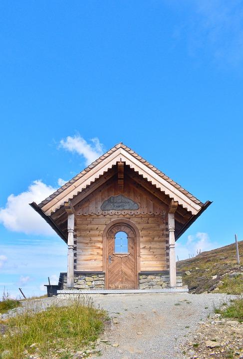 Chapel, Mountain, Wildkogel, Alps, Austria