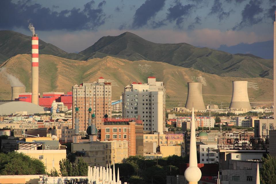 City, Building, Cloud, Mountain, Urumqi, Factory