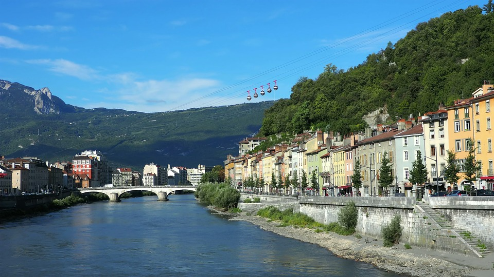 Grenoble, Isère, France, Mountain, City, Alps