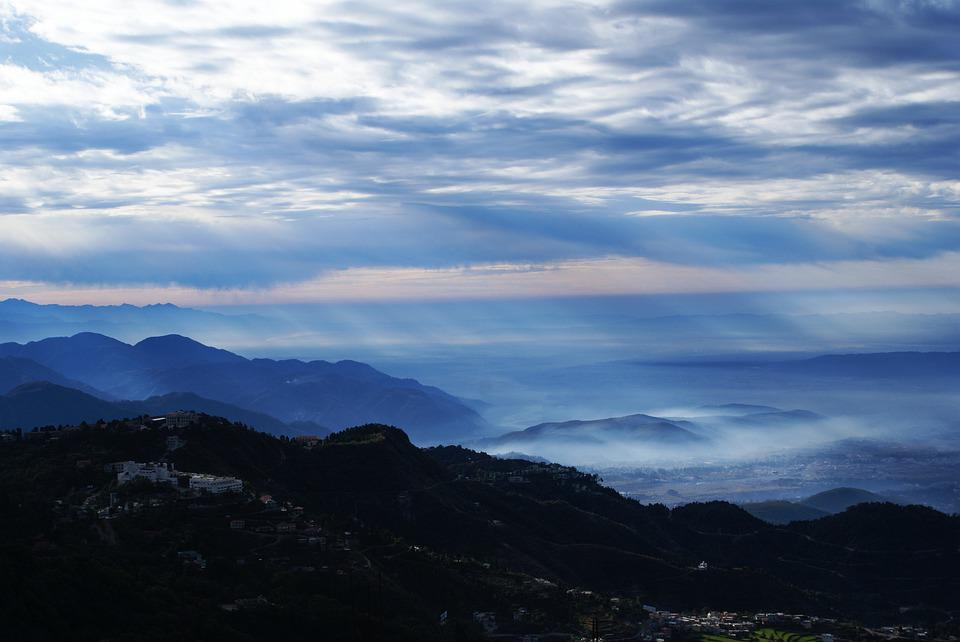 Mountain, Clouds Sky, Shade, Dawn, Nature, Outdoors