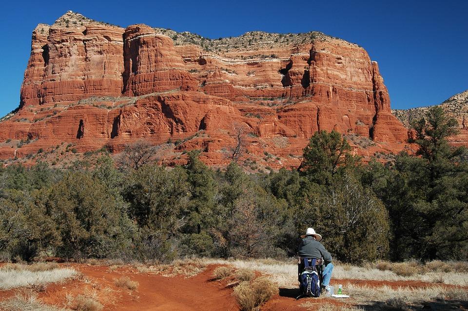 Arizona, Desert, Landscape, Nature, Mountain, Scenic
