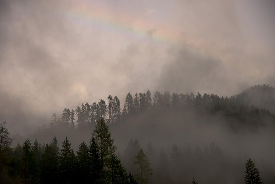 Dawn, Dusk, Fog, Haze, Landscape, Light, Mist, Mountain
