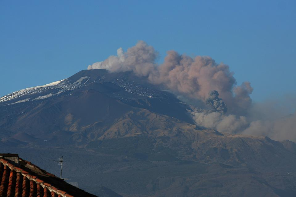 Etna, Volcano, Eruption, Smoke, Gas, Sicily, Mountain