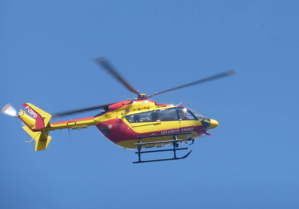 Helicopter, Mountain, Civil Protection, First Aid