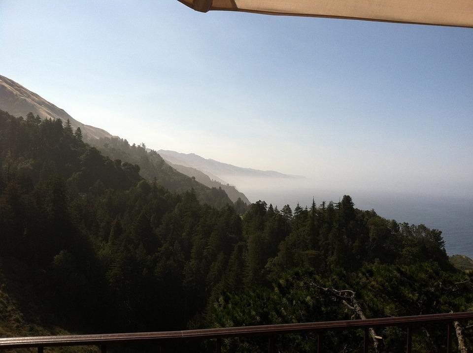 Mountain, Fog, Sky