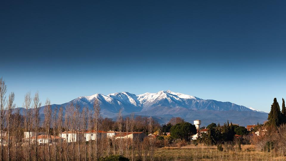 Pyrénées, Canigou, Mountain, South, France, Landscape