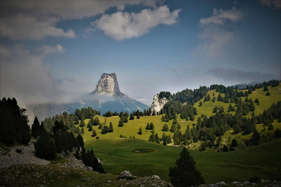 Mountain, Vercors Massif, France, Landscape, Nature