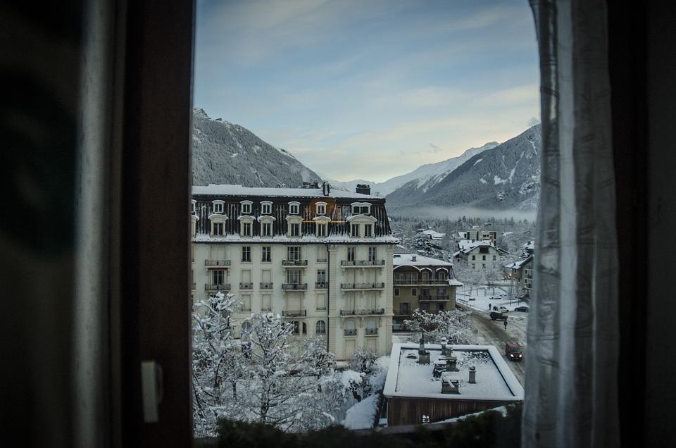 Mountain, Window, View, Chamonix, France