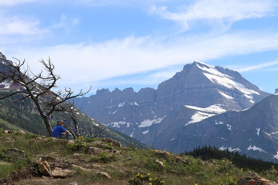 Glacier National Park, Mountain, Glacier, Nature