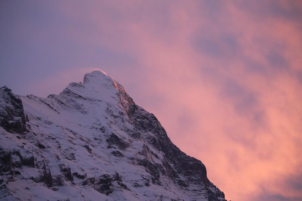 Eiger, Mountain, Sunset, North Wall, Grindelwald