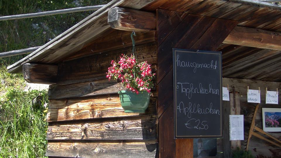 Alm, Hut, Alpine Hut, Log Cabin, Mountain Hut, Rustic