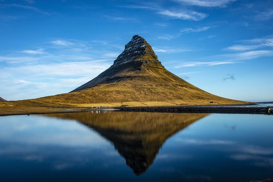 Iceland, Kirkjufell, Clouds, Mountain, Rock
