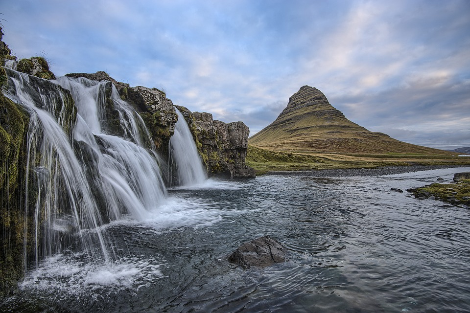 Cascade, Iceland, Landscape, Mountain, Nature, Outdoors