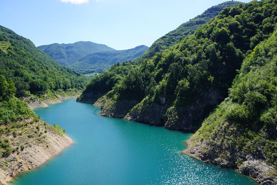 Italy, Garda, Water, Turquoise, Mountain, Landscape