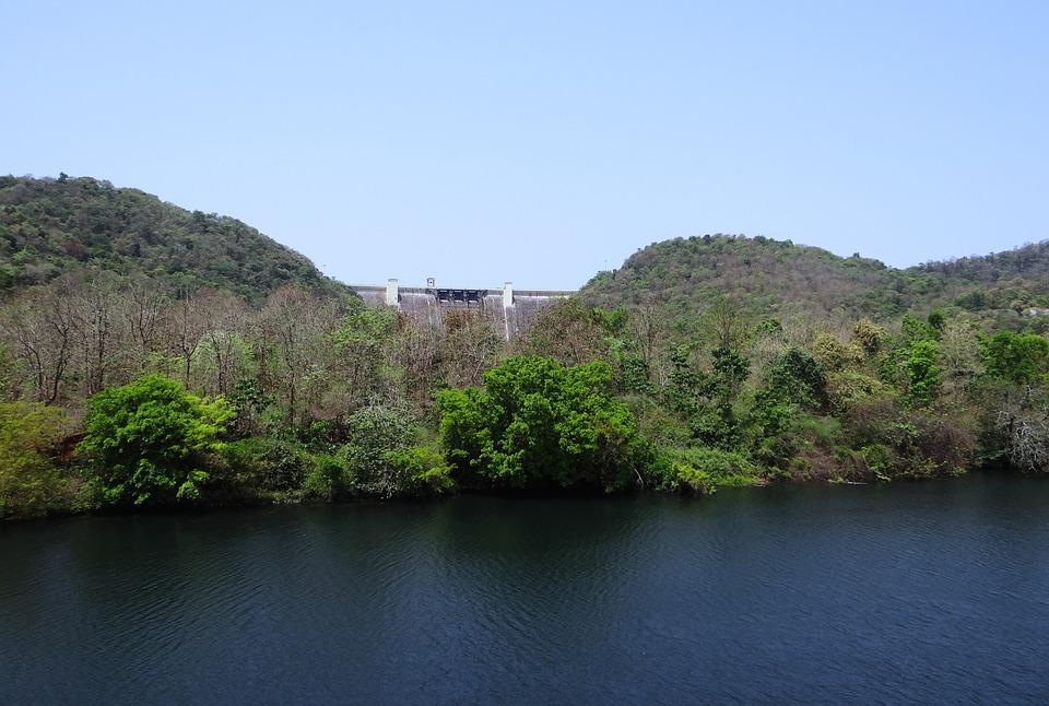 Dam, Supa, River, Kali, Nature, Landscape, Mountain