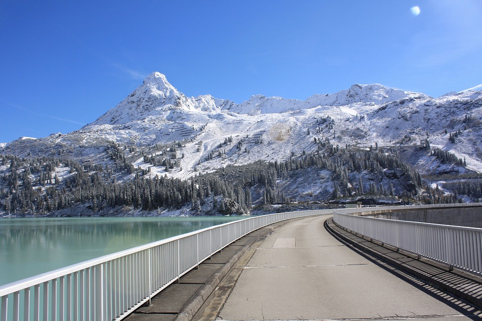 Mountain Lake, Mountain Reservoir, Dam, Blue, Water