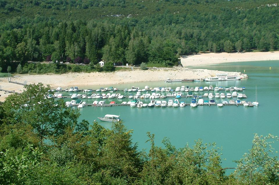 Background, Marina, Mountain Lake, France, Boats, Boat