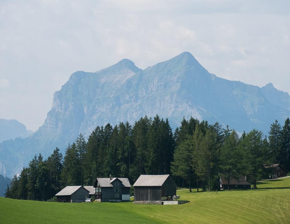Mountain, Alm, Hut, Landscape, Mountains, View, Alpine
