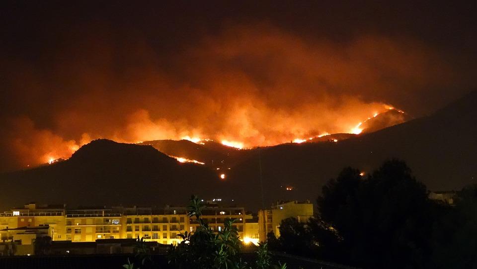 Fire, Pego, Mountain, Nature, Landscape, Devastation