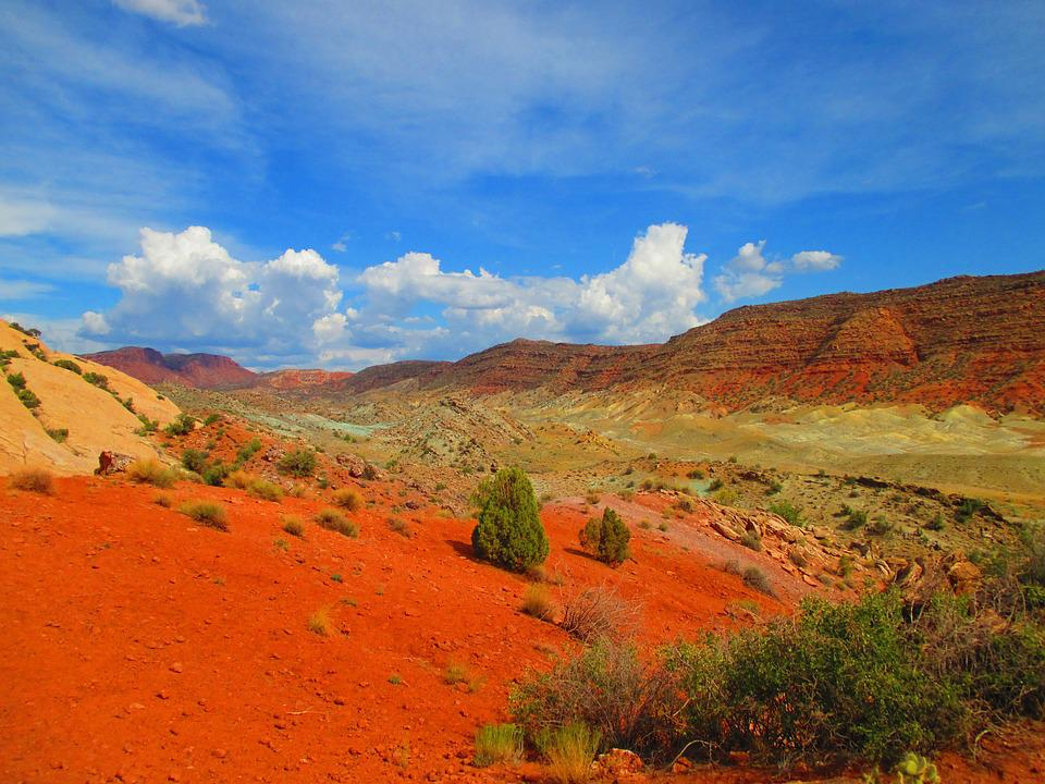 National, Park, Utah, Mountain, Landscape
